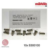 Märklin E-600100 H0 00 gauge 1:87 scale spare parts 10x bulb light locomotive