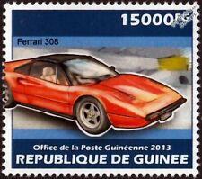 FERRARI 308 GTS Targa Sports Car Stamp (2013 Guinea)