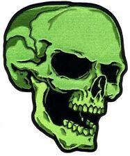 "Green Skull Right Facing Head 3"" X 4"" Motorcycle Biker Uniform Patch"