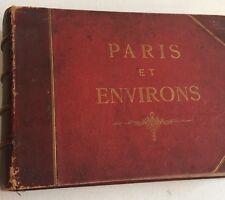 ALBUM PHOTO VINTAGE : PARIS et ses ENVIRONS - 36 vues - vers 1890 reliure cuir