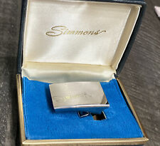 New listing Simmons Sterling Silver Belt Buckle Blank Face For Engraving