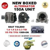 FOR SEAT TOLEDO 1.6 1.9 2.0 2.3 TDi V5 FSi TFSi 1999-ON NEW 150A ALTERNATOR UNIT