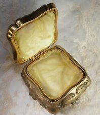 524 Large Antique ART NOUVEAU Jewelry Casket Victorian Ornate Metal Trinket Box