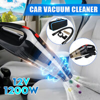 12V Car Vacuum Cleaner Handheld Wet Dry 120W Mini Portable For Auto Dust Duster