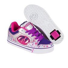 Heelys Girl's Motion Plus Silver/Pink/Purple/Drip Sneaker Shoes 8 Men's/ 9 Women