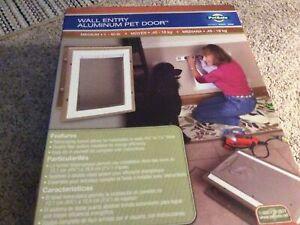 Petsafe HPA11-10919 Medium Wall Entry Aluminum Pet Dog Cat Door