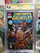 Infinity Gauntlet #1 CGC SS 9.6 SIGNED PEREZ, STARLIN AND RUBINSTEIN