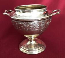 ANTIQUE AMERICAN STERLING SILVER LEBKUECHER & CO SUGAR BOWL 306 GRAMS NO MONOGRA