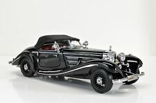RARE CMC 1:24 1936 Mercedes-Benz 500K Special Roadster,Top,Up Black/red,LE 500