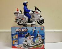 KIDS TOY POLICE BIKE MOTORCYCLE BUMP AND GO ACTION MOTORBIKE BATTERY OPERATED
