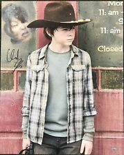 """The Walking Dead Signed Chandler Riggs Carl 16x20 Canvas """"Over his Shoulder"""""""