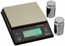 US Balance Bench Top Pro Table Scale 2000 x 0.1 Gram Backlit LCD Display Black