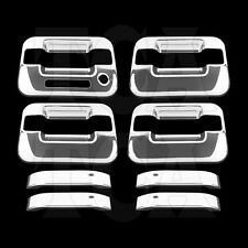 For FORD F150 F-150 2004-2013 2014 CHROME 4 Door Handle Covers Keypad w/o PSK
