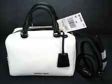 NWT MICHAEL KORS WHITE LEATHER PURSE KIRBY Crossbody SHOULDER STRAP Mini Purse