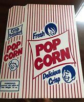 6 Vintage 1960's/70's Fresh Delicious Crisp POPCORN Box