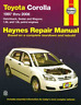 Haynes Workshop Manual Toyota Corolla 1997-2006 AE101 ZZE122 New Service Repair