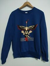 New listing Disney Mickey Mouse 'Crane Style' Vintage Look Jumper Sweater Blue Large 12/14