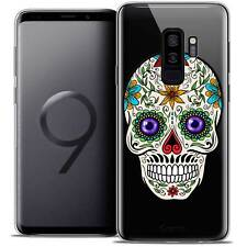 "Coque Crystal Gel Pour Samsung Galaxy S9+ (6.2"") Souple Skull Maria's Flower"