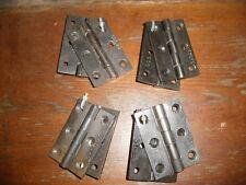 "Vintage Victorian / Edwardian cast iron door hinges 3"". Refurbished"