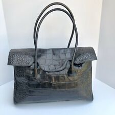 Furla Leather Black Satchel Handbag