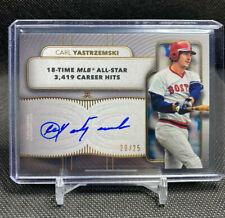 Carl Yastrzemski 2021 Topps Definitive Legendary Autograph 11/25 Boston Red Sox