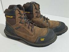 "Caterpillar Fabricate 6"" Tough Waterproof Composite Toe Work Boot Men 13 Brown"