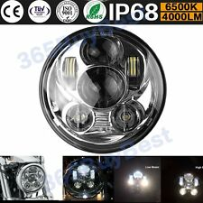 5.75'' 45W 4000LM Moto Chrome Phare Projecteur LED Headlight Lamp Pr Jeep Harley