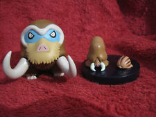 3 Pokemon Figure:Mamutel+Keifel+Quiekel/Zukan/Yujin(Mamoswine+Piloswine+Swinub)