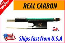 New Genuine Carbon Fiber Violin Bow 3/4 ---Green