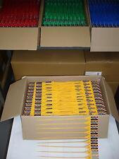 100 x Sicherheitsplomben Plomben security seals Durchziehplomben Plombe PE gelb