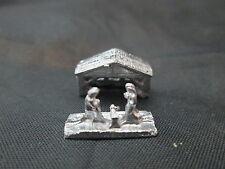 Dollhouse Miniature Unfinished Metal small 2 Piece Nativity Set