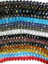 12mm 72 Beads Beautiful Faceted Rondelle Glass Crystal in Loose For Craft Making