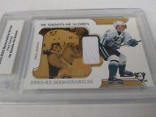 Paul Kariya 2002-03 BAP Memorabilia He Shoots He Scores Relic #13/20 Ducks