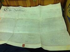 Old Staffordshire Document, 1881 Vellum ,Rugeley, Myatt, Wallis .7/6 revenue..