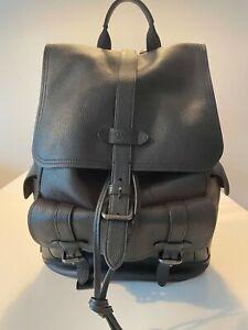 Coach Hudson Backpack - leather / black
