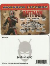 Scott Lang / Paul Rudd ANT-MAN Avengers  fake ID i.d card Drivers License
