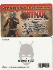 Scott Lang / Paul Rudd Ant-Man Avengers fake Id i.d card Drivers License