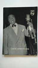 LOUIS ARMSTRONG VINTAGE POSTCARD PHILIPS+DISCOGRAPHY ITALY 1957