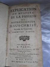 Antique book Explication Du Mystere De La Passion De Notre-Seigneur Jesus-Christ