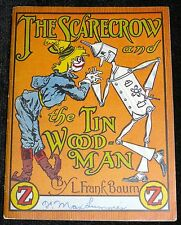 ANTIQUARIAN BOOK FRANK L BAUM WIZARD OF OZ THE SCARECROW TIN WOOD MAN JELLO 1933