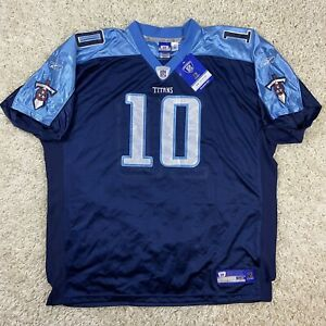 NFL Reebok Equipment Players On Field Tennessee Titans Vince Young #10 Jersey
