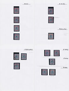 Bermuda. 2/6 shades study in hingeless mounts on pages.