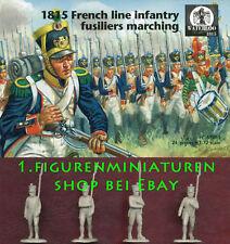 1:72 FIGUREN AP061 1815 French Line Infantry Fusiliers Marching - WATERLOO