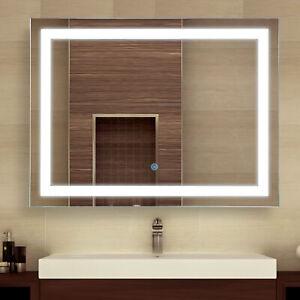 "HOMCOM 32"" LED Bathroom Wall Mirrors with Illuminated Light Makeup Vanity Mirror"