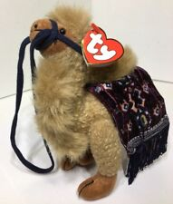 TY Beanie Babies Retired Lawrence the Camel W/ Blanket Jointed Collectible NWT