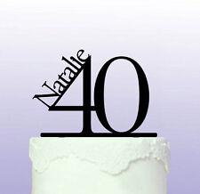 Élégant 40e Anniversaire Cake Topper