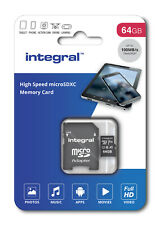 Integral 64GB Micro SDXC Card 64GB Memory Card With MicroSD Adapter phone Tablet