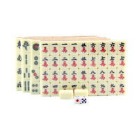 MagiDeal Mahjong in Box Rare Chinese 144 Tiles Mah-Jong Set Board Game Toys