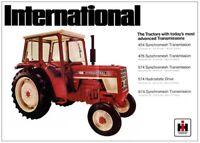 Vintage McCormick International 454 Tractor Poster Brochure Art (A3)