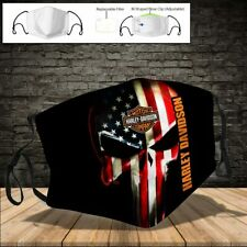 Harley Davidson Pollution Masks - Face Mask 3D One Size Fit All